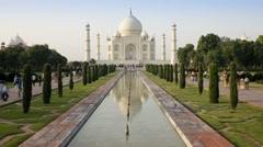 Taj Mahal, Agra, Uttar Pradesh state, India - Tlapse Stock Footage