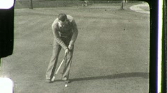 Men Play Golf Golfers on Golf Course 1930s Vintage Film Home Movie 896 Stock Footage