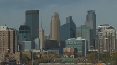 Mpls downtown CU Stock Footage