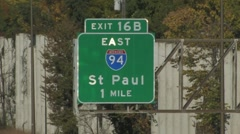 St. Paul Highway sign - stock footage