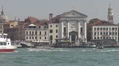 View of Venice church, Venice, Italy Stock Footage