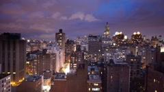 New york skyline manhattan NYC ny timelapse night Stock Footage