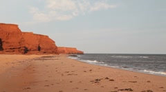 Prince Edward Island Beach Stock Footage