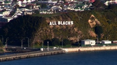 All Blacks Sign 01 - stock footage