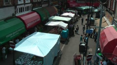 London Street Scene Brixton Market Stock Footage