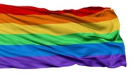 Realistic 3D detailed slow motion gay flag in the wind - seamless loopi Stock Footage