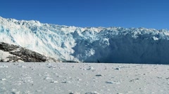 View of a Nearby Arctic Glacier Stock Footage