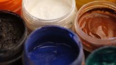 Art. Gouache paint Stock Footage