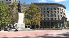 Nikola Pasic Square in Belgrade Stock Footage