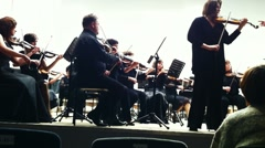 PETROZAVODSK, RUSSIA - MARCH 2: Ekaterina isaeva and Karelia Sympronic orchestra - stock footage