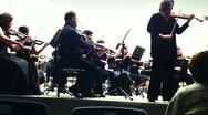 PETROZAVODSK, RUSSIA - MARCH 2: Ekaterina isaeva and Karelia Sympronic orchestra Stock Footage