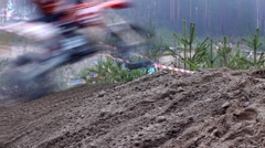 PETROZAVODSK, RUSSIA -May, 07: Motorcross extreme sport competition - Karelia Stock Footage