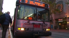 City Buses in San Francisco 2 - stock footage