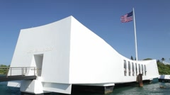 USS Arizona Memorial, Pearl Harbor, Hawaii Stock Footage