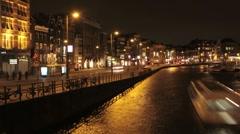 AMSTERDAM Night 2 Stock Footage