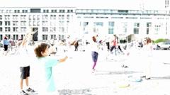 Berlin Brandenburg Gate Bubbles.mp4 Stock Footage