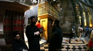 Stock Video Footage of Church of the Holy Sepulchre: Priests talking