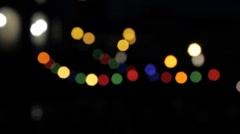 Lights Rack Focus.mp4 Stock Footage