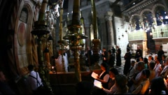 Church of the Holy Sepulchre: Mass Stock Footage