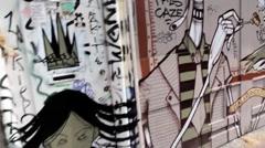 Amsterdam 6 (Street Art).mp4 Stock Footage