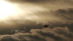 Seaplane in flight Stock Footage