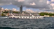 Stock Video Footage of Cruise boat in Istanbul, Turkey