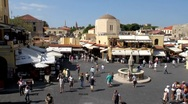 Stock Video Footage of Greece - Rhodes - Hippocrates Square