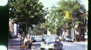Stock Video Footage of STREET SCENE RALEIGH, North Carolina 1965 (Vintage Old Film Home Movie) 884