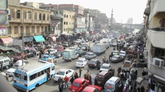 Stock Video Footage of Busy Cairo street