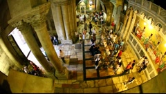 Church of the Holy Sepulchre: The Stone of the Anointing, The Stone of Unction Stock Footage