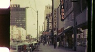 Street Scene Downtown Raleigh North Carolina 1960s Vintage Film Home Movie 887 Stock Footage