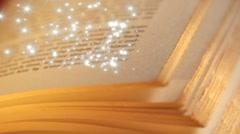 Magic book Stock Footage