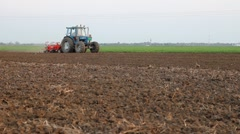 Seeder for sowing in a field Stock Footage