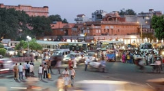 Street life in the City of Jaipur, Rajasthan - stock footage