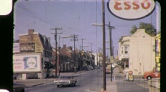 SMALL TOWN STREET SCENE Raleigh 1960s (Vintage Film Retro Home Movie) 888 Stock Footage