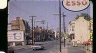 SMALL TOWN STREET SCENE Raleigh 1960s (Vintage Film Retro Home Movie) 888 Stock Footage