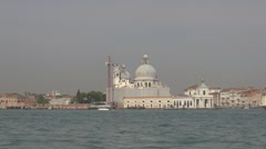 View of Venice church, Venice, Italy - stock footage