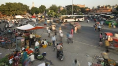 Street life in the City of Jaipur, Rajasthan, India Stock Footage