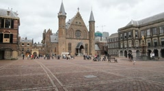 Dutch Government Binnenhof in The Hague, Holland Stock Footage