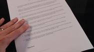 Stock Video Footage of signing contract