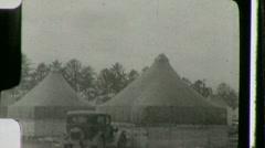People Red Cross Refugee Tents Cincinnati Flood 1937 Vintage Film Home Movie 906 Stock Footage