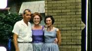 Family Reunion Circa 1960 (Vintage Film 8mm Home Movie) 867 Stock Footage