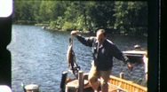Proud Fisherman and Trout Catch Circa 1955 (Vintage 8mm Home Movie) 869 Stock Footage