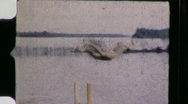 Stock Video Footage of Diver at the Lake Circa 1950 (Vintage Film 8mm Home Movie) 870