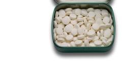 Pills box closeup Stock Footage