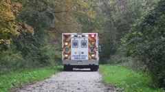 Ambulance on rescue mission #2 Stock Footage