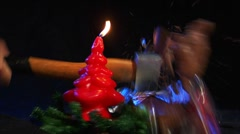 10611 kill santa claus nicolas axe christmas slowmo Stock Footage