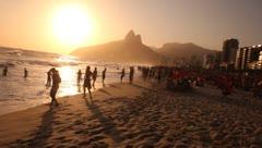 Ipanema Beach - Rio de Janeiro - Brazil Stock Footage