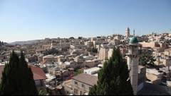 Skyline of old Jerusalem Stock Footage