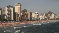 Stock Video Footage of Ipanema Beach - Rio de Janeiro - Brazil